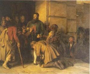 Abschied vor der Hinrichtung (Ölgemälde: Franz von Defregger)