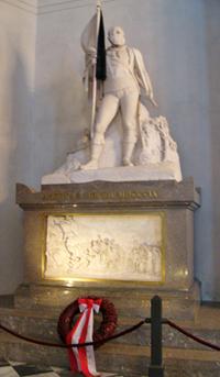 Andreas Hofers Grab (mit Trauerflor), Hofkirche Innsbruck