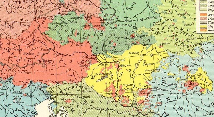 Deutsche Österreichs-Ungarns 1914