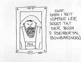 "Karikatur in den ""Südtiroler Nachrichten"", 2003"