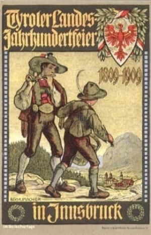 Jahrhundertsfeier des Tiroler Volksaufstandes 1909 (Plakat)