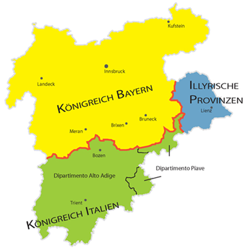 Teilung Tirols 1810-1813